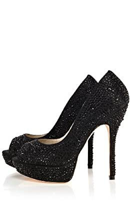 Crystal Encrusted Peep Toe