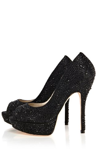 Limited Edition - Crystal encrusted peep toe