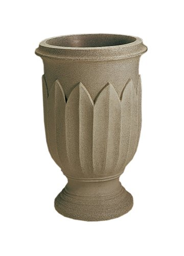 Crescent Garden A654380 Freda 26″ Urn Planter in Weathered Grey-Stone