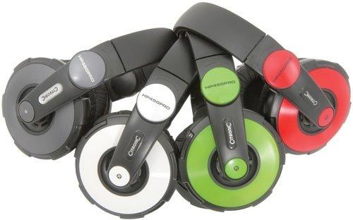 Citronic HB450Pro Cuffie DJ stereo headphones professionali (driver al neodimio, cavo a spirale, cuffia ruotabile di 180�)