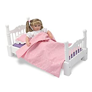 Melissa & Doug Deluxe Wooden  Doll Furniture - Bed