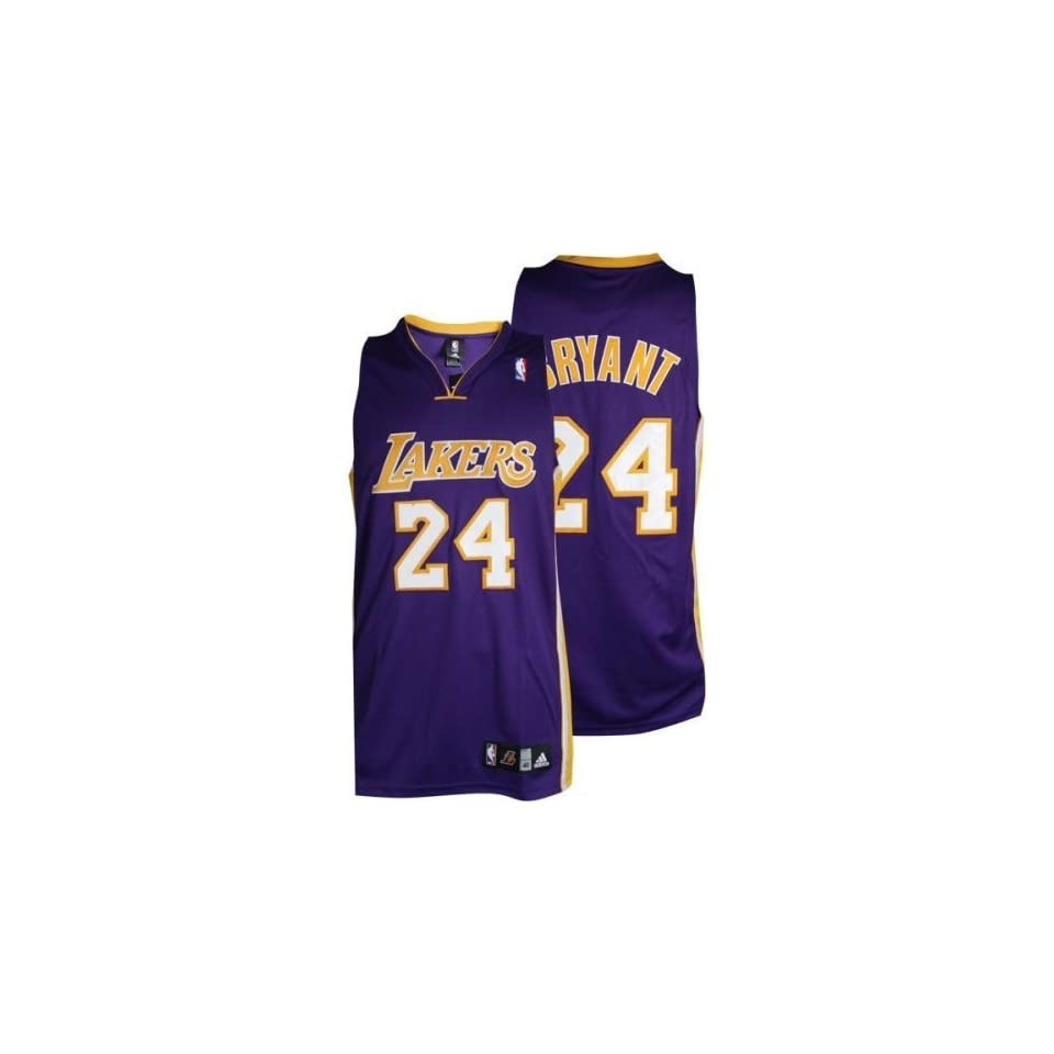 7b9c964d2 Kobe Bryant Purple adidas NBA Authentic Los Angeles Lakers Jersey (Size 52)