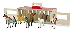 Take-Along Show Horse Stable 4-Piece Figure Play Set