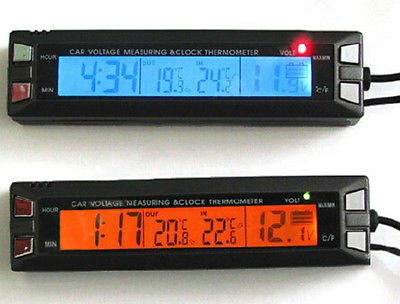 Generic 12V Car Auto Digital Led In/Out C/F Clock Time Thermometer Volt Meter