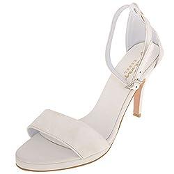 RUNWAY REBEL Womens White PU Stilettoes 6 UK