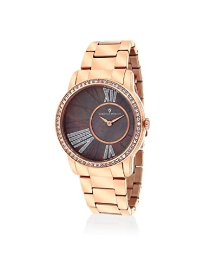 Christian Van Sant Women's CV3614 Exquisite Rose Gold/Brown MOP Stainless Steel Case with Stainless ...