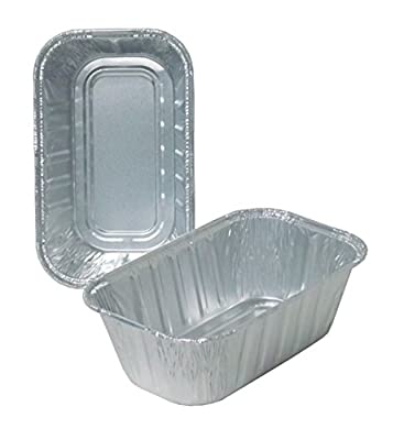 Durable Packaging 5000-30 Disposable Aluminum Loaf Pan, 1 lb (Pack of 500)