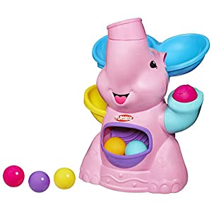 Playskool Poppin Park Pink Elephant Busy Ball Popper Toy
