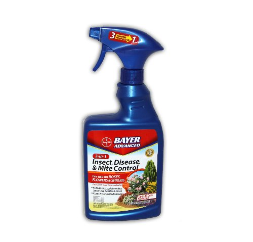 Bayer 701287A 3-in-1 Insect Disease and Mite Control Ready-to-Spray, 32-Ounce