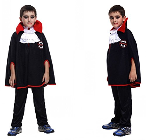 Purplebox Halloween Cosplay Costume Children Dress Up Vampire Cloak