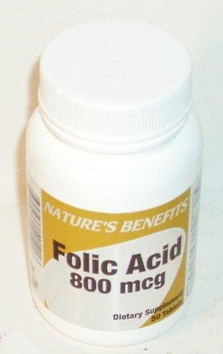 Folic Acid 800 Mcg 50 Tablets - 3 Bottle Package