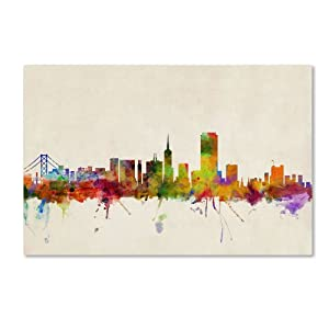 Trademark Fine Art San Francisco, California Canvas Wall Art by Michael Tompsett, 30 by 47-Inch
