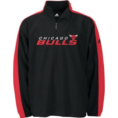 chicago bulls adidas fleece 1 4 zip pullover. Black Bedroom Furniture Sets. Home Design Ideas