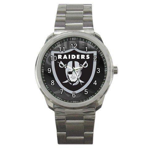 NFL Oakland Raiders Graphic Logo Sport Metal Watch