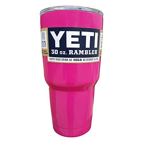 Yeti YRAM30 Powder Coated 30oz Rambler (Gloss Hot Pink)
