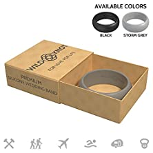 buy Silicone Wedding Rings For Men - High Performance Rubber Wedding Bands - Safe, Comfortable, Stylish, Strong - Multiple Ring Colors & Sizes For Hard-Working Hands, Athletes, Travelers & Adventurers