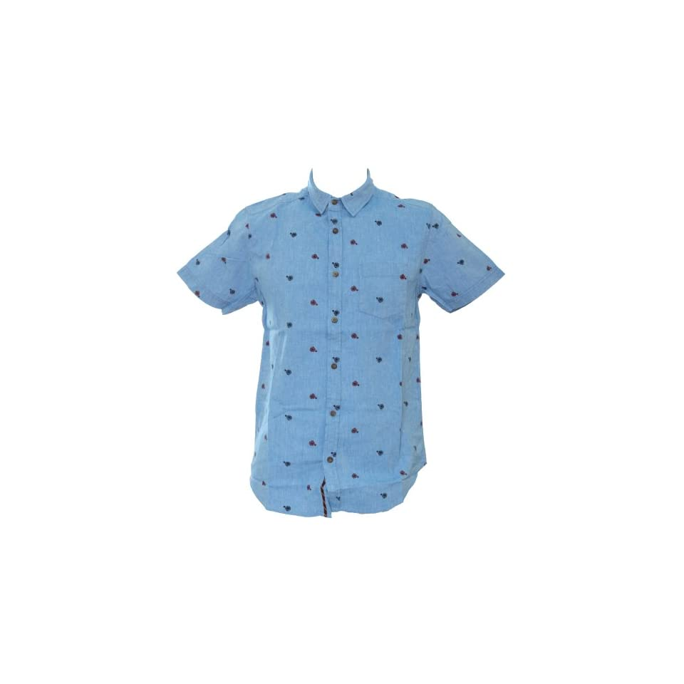 Brave Soul Mens Short Sleeve Summer Shirt/Top With Penny Farthing Design