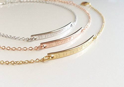 A Delicate Coordinate Bracelet Personalized Bridesmaid Gift Girlfriend Best Friend Christmas Gift for Women (Customized Friendship Bracelets compare prices)