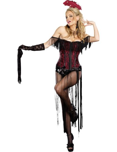 Burlesque Beauty Adult Womens Costume Lg Adult Womens Costume