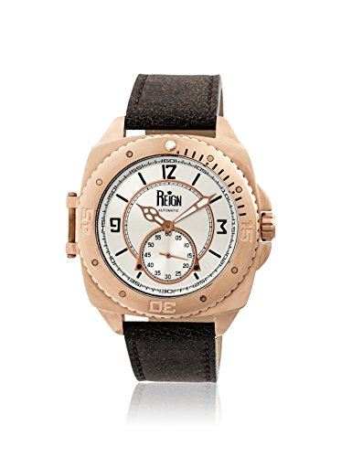 Reign Automatic Men's Churchill Dark Brown/Silver Leather Watch