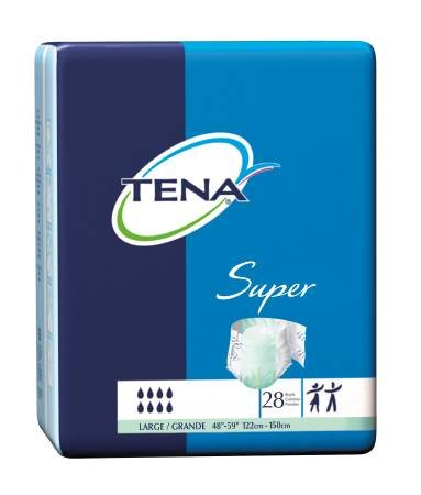 Sca Incont 67503100 Incontinent Brief Tena Super Brief Hook And Loop Tab Large Disposable Maximum Absorbency 67501 Box Of 56