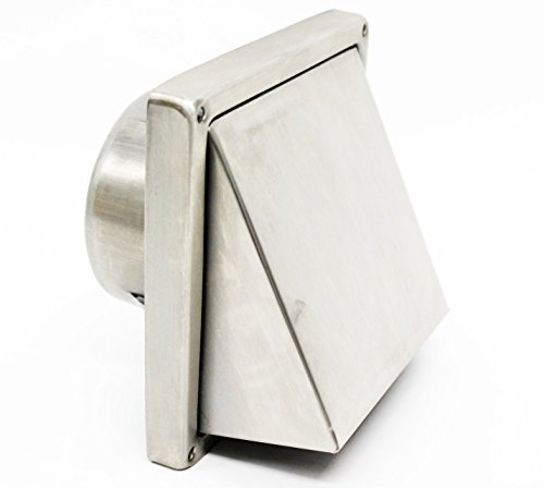 100MM 4 Inch Stainless Steel Cowled Outlet Wall Vent with Non Return Flap (1)