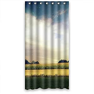 wide field sunshine high quality fabric bathroom shower curtain 36 x 72 inches. Black Bedroom Furniture Sets. Home Design Ideas