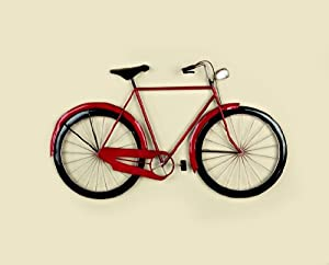 Bicycle Garden & Home Wall Art (70cm x 40cm) by Direct Global Trading