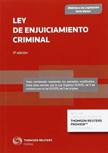 Ley De Enjuiciamiento Criminal (Biblioteca de Legislación - Serie Menor)