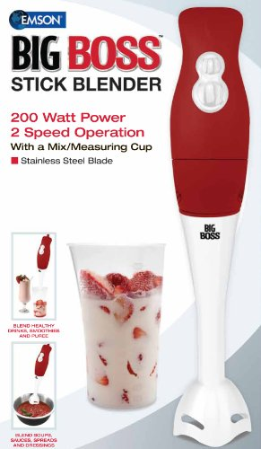 Big Boss 200 Watt Power 2-Speed Operation Immersion Hand-Stick Blender/mixer  with a Mix/Measuring Cup (Aqua Hand Blender compare prices)