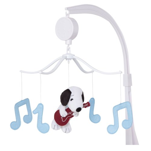 Bedtime Originals Hip Hop Snoopy Musical Mobile, Blue