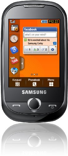 Samsung Corby S3650 Handy (Touchscreen, 2MP Kamera, MP3-Player) festival-orange