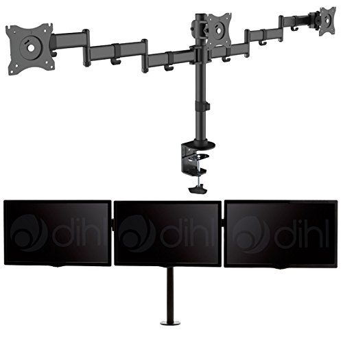dihl-triple-three-arm-adjustable-desk-mount-bracket-stand-for-13-24-inch-lcd-led-computer-monitor-sc
