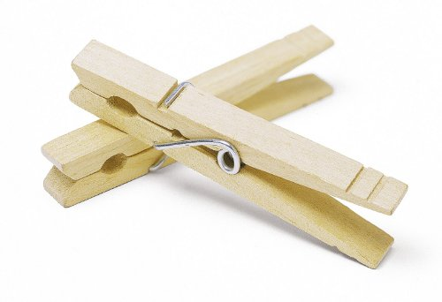 Natural Wood Clothespins - 100 pieces