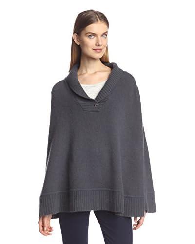 Portolano Women's Knit Poncho, Grey