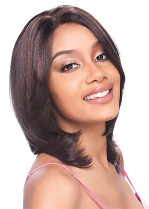 Model Model Synthetic Baby Hair Lace Front Wig - Grace - P1B/30