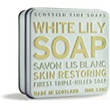 Scottish Fine Soaps White Lily Floral Soap Tin  Soap 100g