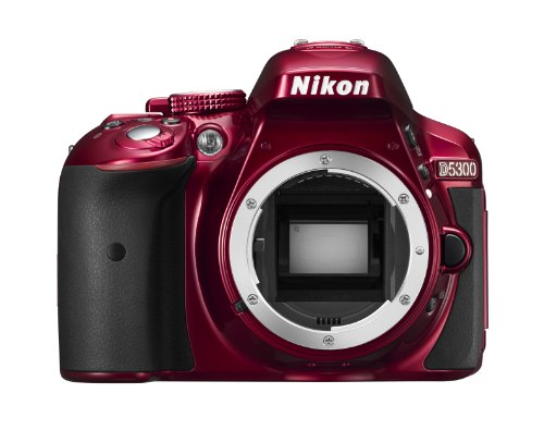 Nikon D5300 Digital SLR Camera Body Only - Red (24.2 MP) 3.2 inch LCD with Wi-Fi and GPS Black Friday & Cyber Monday 2014