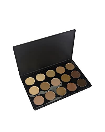Crown Brush 15-Color Crème Foundation Contour Palette