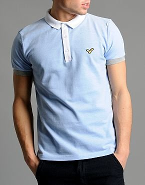 Voi Jeans BK Match Polo Shirt (Large, Sky Blue)