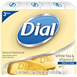 Dial Natural Radiance White Tea and Vitamin E Glycerin Soap, 4 Ounce, 3 Count