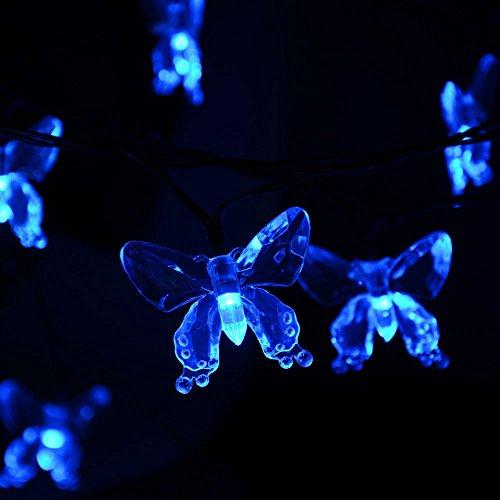 Electric Butterfly String Lights : lederTEK Solar Powered Christmas String Lights 40 LED 24.6ft 8 Modes Fairy Butterfly Lighting ...