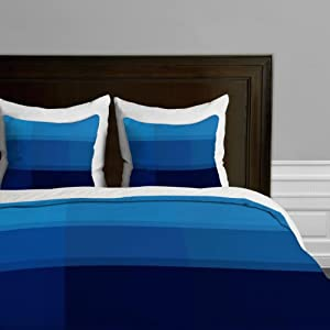 DENY Designs Madart Deep Blue Sea Duvet Cover, Queen