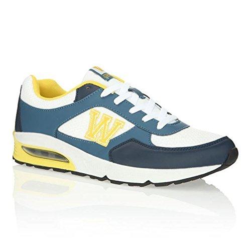 Wati B - Sneaker Uomo , Bianco (blu), 45
