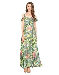 Printed Polyester Maxi Dress X-Large