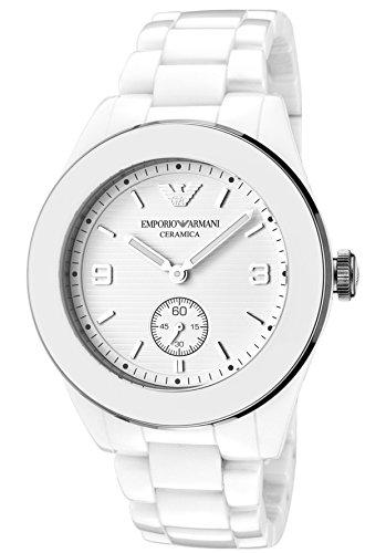 Emporio Armani White Ceramic Unisex Watches AR1425