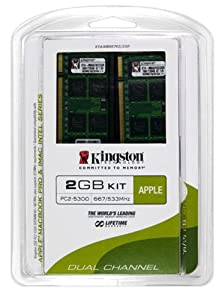 Kingston Apple 2GB Kit (2x1GB Modules) 667MHz DDR2 SoDimm iMac and Macbook Memory (KTA-MB667K2/2GR)
