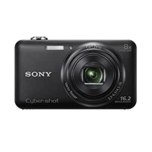 Sony DSC-WX80 Digitalkamera (16,2 Megapixel Exmor R Sensor, 8-fach opt. Zoom, 6,9 cm (2,7 Zoll) LCD-Dispaly, 25mm Weitwinkelobjektiv, Wi-Fi Funktion) schwarz