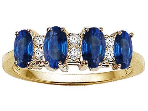 Tommaso design tm genuine 4 stone sapphire and diamond for Sapphire studios jewelry reviews