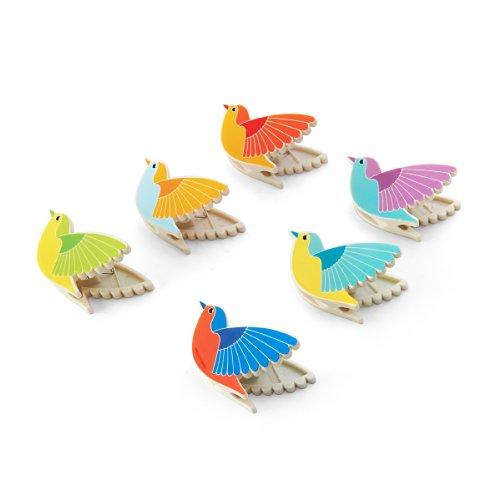 Kizmos Small Bird Bag Clips, Set of 6